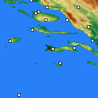 Nearby Forecast Locations - Vela Luka - Mapa