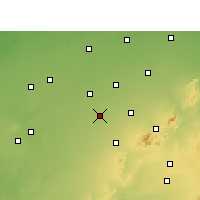 Nearby Forecast Locations - Lachhmangarh - Mapa