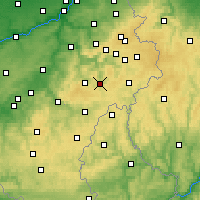 Nearby Forecast Locations - Vielsalm - Mapa