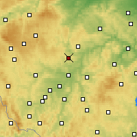 Nearby Forecast Locations - Kaznějov - Mapa