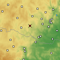 Nearby Forecast Locations - Moravské Budějovice - Mapa