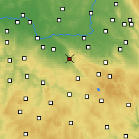 Nearby Forecast Locations - Třemošnice - Mapa
