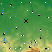 Nearby Forecast Locations - Gozdnica - Mapa