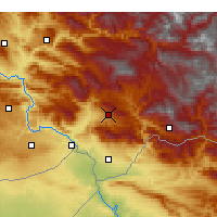 Nearby Forecast Locations - Şırnak - Mapa