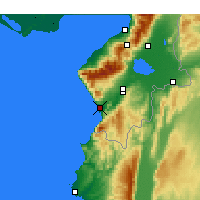 Nearby Forecast Locations - Samandağ - Mapa