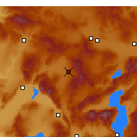 Nearby Forecast Locations - Sandıklı - Mapa