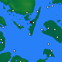 Nearby Forecast Locations - Rudkøbing - Mapa