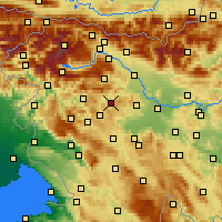 Nearby Forecast Locations - Gorenja vas-Poljane - Mapa