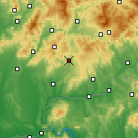 Nearby Forecast Locations - Krupina - Mapa
