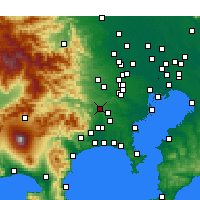 Nearby Forecast Locations - Sagamihara - Mapa