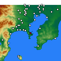 Nearby Forecast Locations - Yokosuka - Mapa