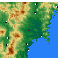 Nearby Forecast Locations - Osaki - Mapa