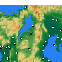 Nearby Forecast Locations - Higashiomi - Mapa
