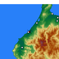 Nearby Forecast Locations - Komatsu - Mapa