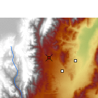 Nearby Forecast Locations - San Salvador de Jujuy - Mapa