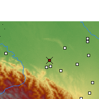 Nearby Forecast Locations - San Juan de Yapacaní - Mapa
