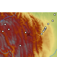 Nearby Forecast Locations - Samaipata - Mapa