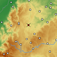 Nearby Forecast Locations - Horb am Neckar - Mapa