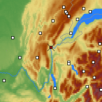 Nearby Forecast Locations - Bellegarde-sur-Valserine - Mapa