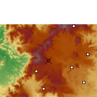 Nearby Forecast Locations - Mbouda - Mapa