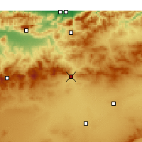 Nearby Forecast Locations - Ksar Boukhari - Mapa