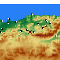 Nearby Forecast Locations - Draâ El Mizan - Mapa