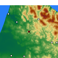 Nearby Forecast Locations - Ouezzane - Mapa