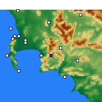 Nearby Forecast Locations - Grabouw - Mapa