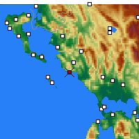 Nearby Forecast Locations - Parga - Mapa