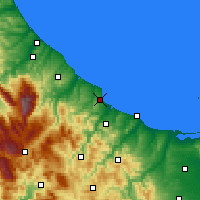 Nearby Forecast Locations - Vasto - Mapa