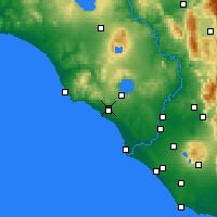 Nearby Forecast Locations - Cerveteri - Mapa