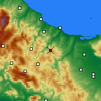 Nearby Forecast Locations - Casacalenda - Mapa