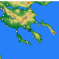 Nearby Forecast Locations - Nikiti - Mapa