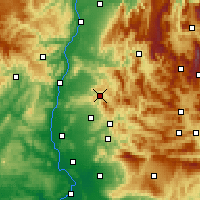 Nearby Forecast Locations - Dieulefit - Mapa