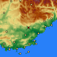 Nearby Forecast Locations - Draguignan - Mapa