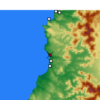 Nearby Forecast Locations - Valparaíso - Mapa