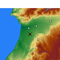 Nearby Forecast Locations - Biougra - Mapa
