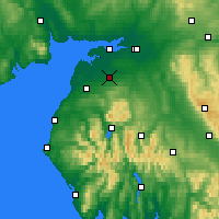 Nearby Forecast Locations - Wigton - Mapa
