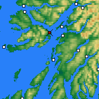 Nearby Forecast Locations - Ilha de Mull - Mapa