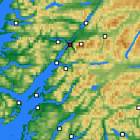 Nearby Forecast Locations - Fort William - Mapa