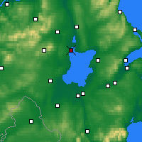 Nearby Forecast Locations - Lago Neagh - Mapa