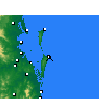 Nearby Forecast Locations - Point Lookout - Mapa