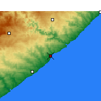 Nearby Forecast Locations - Cintsa Bay - Mapa