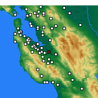 Nearby Forecast Locations - San José - Mapa