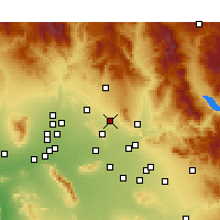 Nearby Forecast Locations - Scottsdale - Mapa