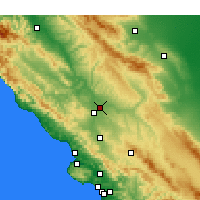 Nearby Forecast Locations - El Paso de Robles - Mapa