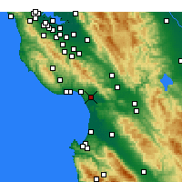 Nearby Forecast Locations - Watsonville - Mapa