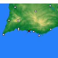 Nearby Forecast Locations - Albufeira - Mapa
