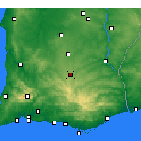 Nearby Forecast Locations - Almodôvar - Mapa