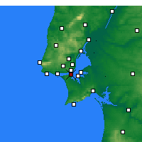 Nearby Forecast Locations - Almada - Mapa